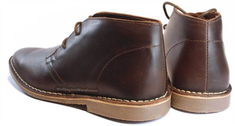 Red Tape Gobi Leather Mens Lace Black Desert Chelsea Fashion Boots